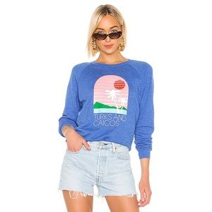 Wildfox Turks & Caicos Crewneck Long Sleeve Sz S